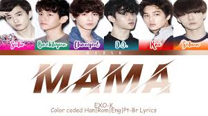 EXO-K (엑소케이) – MAMA (Color Coded Lyrics/Han/Rom/Eng/Pt-Br) - YouTube
