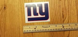 New York Giants Vinyl Decal 3 X 5 Ny Yeti Cup Rtic Tu