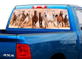 Product Herd Of Running Horses Rear Window Decal Sticker Pick Up Truck Suv Car