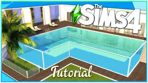 Sims 4 Glass Pool Tutorial No Cc Kate Emerald Youtube