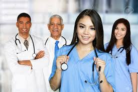 Medical Team Of Doctors And Nurses In A Hospital Stock Photo ...
