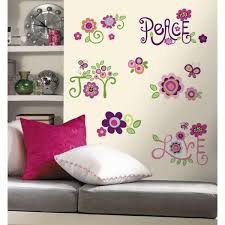 Roommates 5 In X 11 5 In Love Joy Peace Peel And Stick Wall Decal Rmk1649scs The Home Depot