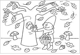Kleurplaat Pompom Herfst Kleurplaten