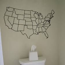 us united states map wall decal vinyl