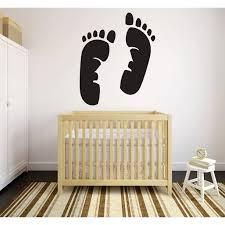 Custom Wall Decal Footprints Baby Infant Newborn Boy Girl Decor Peel Stick Sticker Vinyl Wall Decal 20x30 Inches Walmart Com Walmart Com