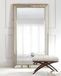 aldina golden beaded floor mirror