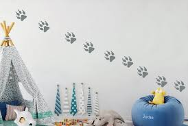 Grizzly Bear Paw Prints Wall Decal Track Forest Nature Animals Etsy