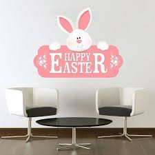 Shop Easter Bunny Pink Full Color Wall Decal Sticker K 1015 Frst Size 52 X80 Overstock 21140819