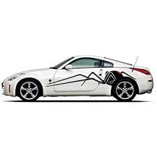 Amazon Com Picniva Black Widow Spider Racing Car Body Side Stripes Sticker Decal 2 Pcs Automotive