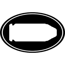 Decals Stickers And Vinyl 40 Bullet Gun Ammo 40 Cal Euro Oval Car Decal Window Sticker Laptop 6