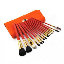 orange makeup brush sets kits