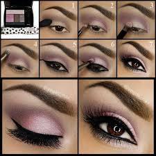 makeup tutorial brown eyes purple make