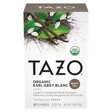 organic earl grey blanc tazo tea