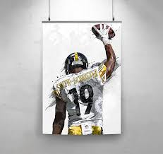 Amazon Com Topshelfprints Juju Smith Schuster Pittsburgh Steelers Poster Canvas Print Football Artwork Kids Room Wall Decor Man Cave Sports Decor Birthday Gift Idea Clothing