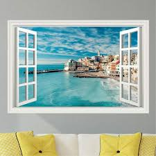Italy Ocean Beach Scene Wall Decal Sticker Graphic Art 4 Size Options Ebay