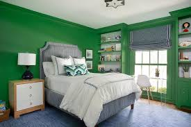 Blue And Green Boys Room With Green Built Ins Contemporary Boy S Room