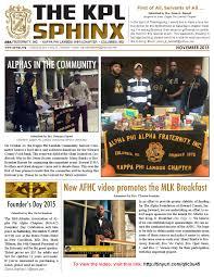 The KPL Sphinx - November 2015 by Kerry G. Johnson - issuu