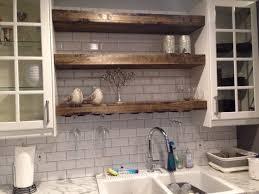 floating shelf with a wine glass rack