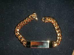 gold tone id bracelet anson mfg usa