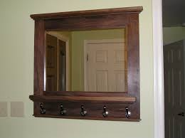 entryway mirror with coat hooks