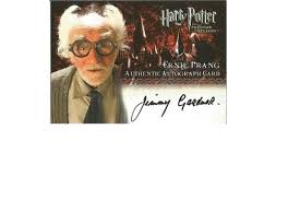 Jimmy Gardner as Ernie Prang signed Harry Potter Collection ...
