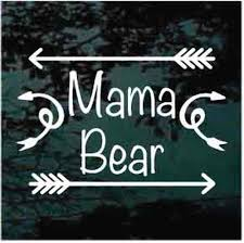 Mama Bear With Arrows Car Window Decals Stickers Decal Junky