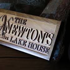 lake house sign wood plaque