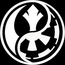 Amazon Com Star Wars Ying Yang Rebel Vs Imperial White Decal For Locker Tablet Laptop Car Truck Or Cubicle Automotive