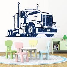 Lorry Semi Truck American Truck 18 Wheeler Big Truck Wall Art Sticker Ebay