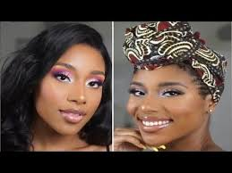 glam makeup for black women dark skin