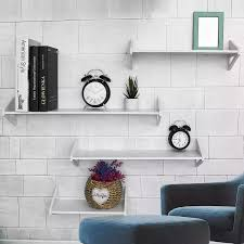 White Wall Shelf Wall Mounted Storage Rack Organization For Bedroom Kitchen Bathroom Shower Corner Storage Shelf Diy Kid Room Storage Holders Racks Aliexpress