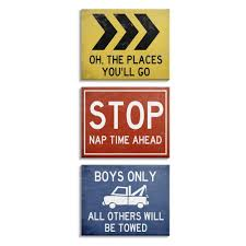 Shop Stupell Industries Distressed Street Signs Boy S Room Transportation Theme Canvas Wall Art Multi Color Overstock 31604340