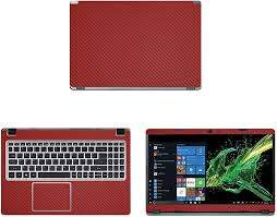 Amazon Com Decalrus Protective Decal For Acer Aspire 5 A515 43 R19l 15 6 Screen Laptop Red Carbon Fiber Skin Case Cover Wrap Cfaceraspirea515 43red Computers Accessories