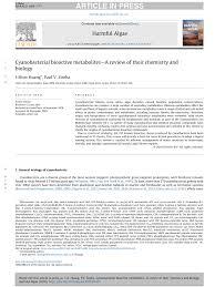 cyaacterial bioactive metabolites