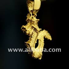 24k gold dragon pendant dragon