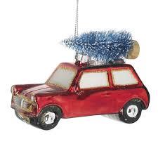 mini car with christmas tree