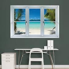 Virgin Islands Beach Instant Window Faux Window Fake Window Window Wall