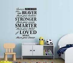 Amazon Com Bestpriceddecals Always Remember You Are Loved Wall Decal 15 X 22 Black Boy Home Kitchen