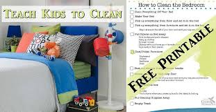 Teach Kids To Have A Clean Room Bedroom Cleaning Printable