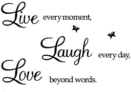 Amazon Com Rertcioph Live Every Moment Laugh Every Day Love Beyond Words Wall Sticker Motivational Wall Decals Family Inspirational Wall Stickers Quotes Arts Crafts Sewing