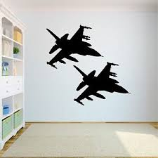 Large Us Air Force F 16 S Removable Wall Decals Stickers Vinyl Kids Room Decor Ebay