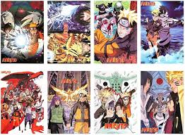 Amazon.com: Naruto Posters Japanese Anime Poster Art Prints for Home Wall  Decor, Set of 8 PCS, 11.5in x16.5in: Posters & Prints