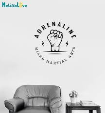 Simple Design Wall Decal Home Decor Living Room Fist Extreme Sports Mixed Martial Arts Fight Club Mma Vinyl Sticker Gift Yy744 Wall Stickers Aliexpress