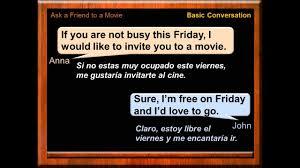 Conversacion Y Dialogos En Ingles Invitar Al Cine En Ingles Clases De Ingles Basico Gratis Youtube