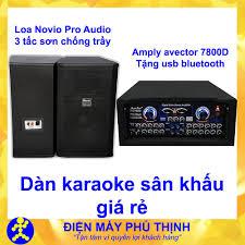 Dàn karaoke gia đình Dàn karaoke gia đình hay, Dàn karaoke giá rẻ CẶP LOA  NOVIO 3 TẤC SƠN VÀ AMPLY KARAOKE AVECTOR 7800