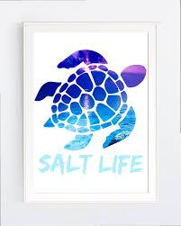 Beach Decor Wall Art Print Sea Turtle Instant Download Etsy