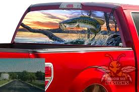 Fish Rear Window Vinyl F150 2019 Ford Perforated Decals