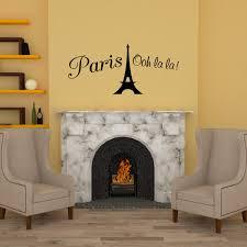 Amazon Com Vinyl Decal Paris Eiffel Tower Ooh La La Wall Decal Decor France Love Hearts Sticker Home Kitchen