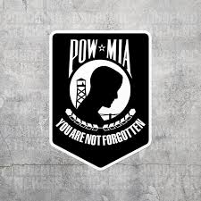Pow Mia Sticker Vinyl Decal Army Navy Marines Military Car Etsy