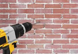 how to drill into brick step by step